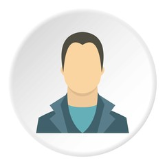 Young man avatar icon. Flat illustration of young man avatar vector icon for web