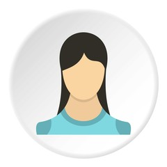 Young girl avatar icon. Flat illustration of young girl avatar vector icon for web