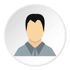Man in shirt avatar icon. Flat illustration of man in shirt avatar vector icon for web