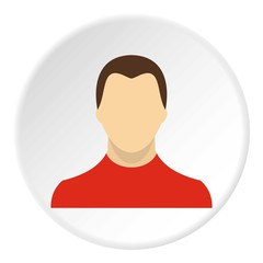 Young man with haircut avatar icon. Flat illustration of young man with haircut avatar vector icon for web