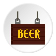 Sign beer icon. Flat illustration of sign beer vector icon for web
