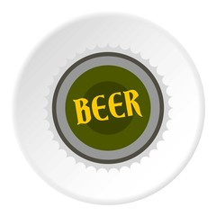 Cover beer icon. Flat illustration of cover beer vector icon for web
