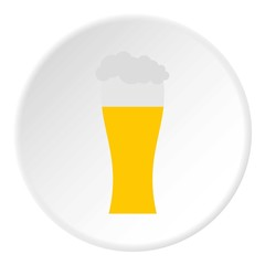 Glass of beer icon. Flat illustration of glass of beer vector icon for web