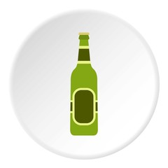 Bottle of beer icon. Flat illustration of bottle of beer vector icon for web
