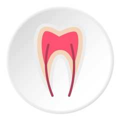Tooth nerve icon. Flat illustration of tooth nerve vector icon for web