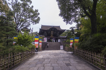 Entrance to traditional Japanese temple