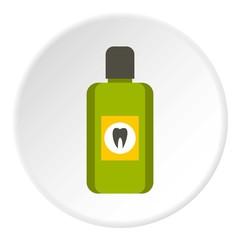 Mouthwash icon. Flat illustration of mouthwash vector icon for web