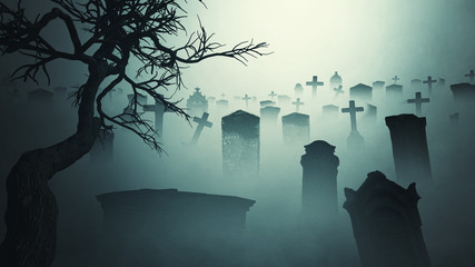 Horror  Halloween  gravestone   spooky tree