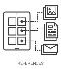 References line infographic.