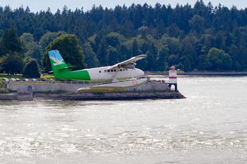 Seaplane flight over  inlet