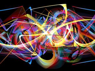 abstract colorful graffiti