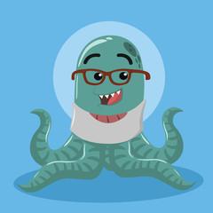 octopus monster illustration vector illustration design