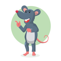 mouse character vector illustration design