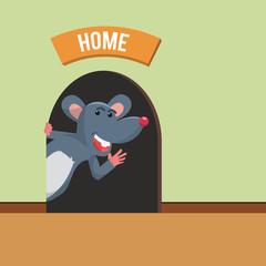 mouse home vector illustration design