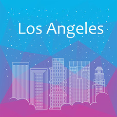 Los Angeles for banner, poster, illustration, game, background.