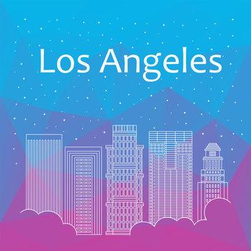 Los Angeles for banner, poster, illustration, game, background.
