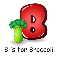 Vegetables alphabet: B is for Broccoli
