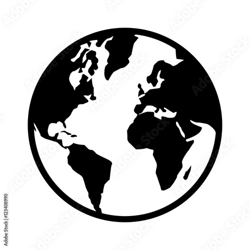 World map globe or planet earth world map line art icon for apps and world map globe or planet earth world map line art icon for apps and websites gumiabroncs Gallery