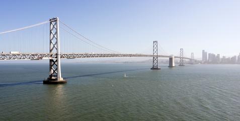 Bright Summer Day Bay Bridge San Francisco California