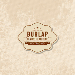 Realistic texture of burlap textile material, sack texture