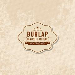 Realistic texture of burlap textile material, sack texture