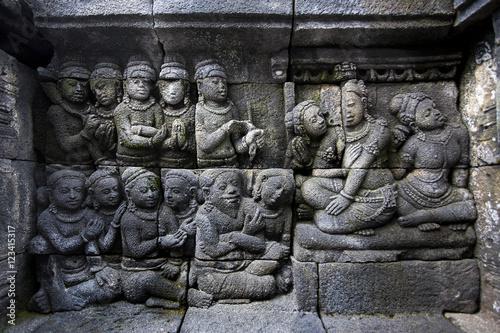 Quot carved stone at borobudur yogyakarta java indonesia