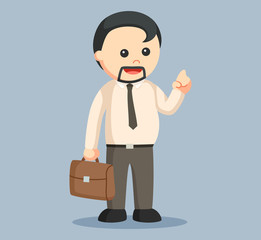fat man businessman vector illustration design