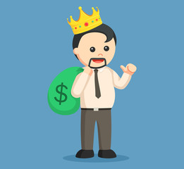 king fat man businessman