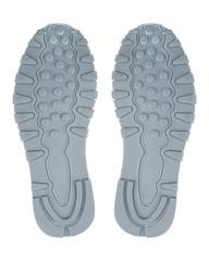 shoe print isolated on white background.