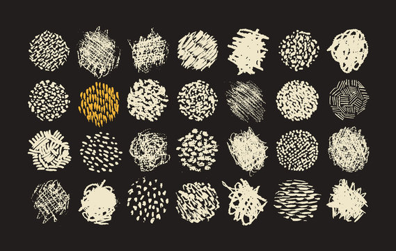 Pen and Pencil scribble brush pack, various textures for illustration shading