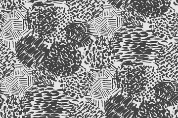 Seamless pencil scribble pattern in black and white