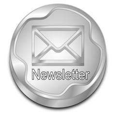 Newsletter Button - 3D illustration