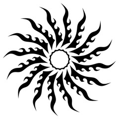 Tattoo. Stencil. Pattern. Design. Ornament. Abstract black and white pattern for tattoo or another design.