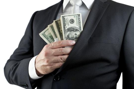 Hide money in the pocket