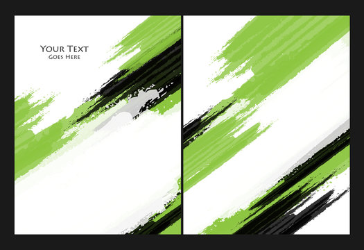 grungy vector backgrounds set
