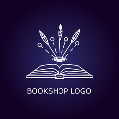 Vector book logo
