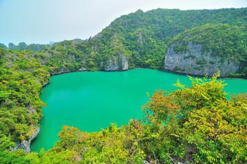 Sea landscape of Talay Nai in Surat Thani provice, Thailand