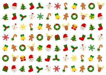 Christmas クリスマス イラスト 背景 白バック