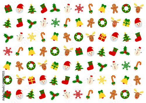 Christmas クリスマス イラスト 背景 白バックfotoliacom の ストック