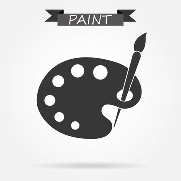 Artist palette and brush icon