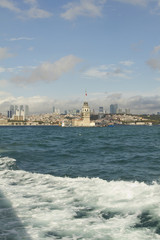 Maidens Tower, Istanbul, city and sea