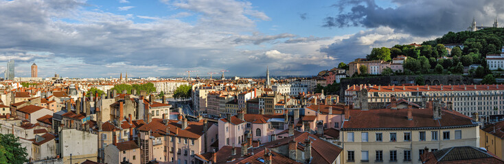 Lyon (France) high definition scenic panorama