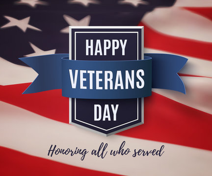 Happy Veterans Day background template.