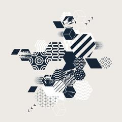 Composition of texture hexagon