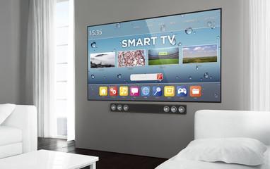 Big screen television smart tv