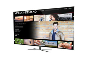 television video on demand isolated