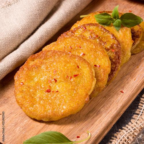 "Potato pancakes with pumpkin puree"" 스톡 사진, 로열티프리 ..."