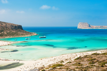 Balos Lagoon in Crete island, Greece