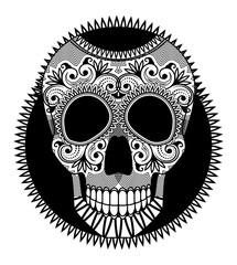 Sugar skull the symbol of Day of the Dead (Dia de los muertos)
