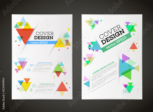 Abstract vector triangle design for flyer business card poster abstract vector triangle design for flyer business card poster banner cover wajeb Images